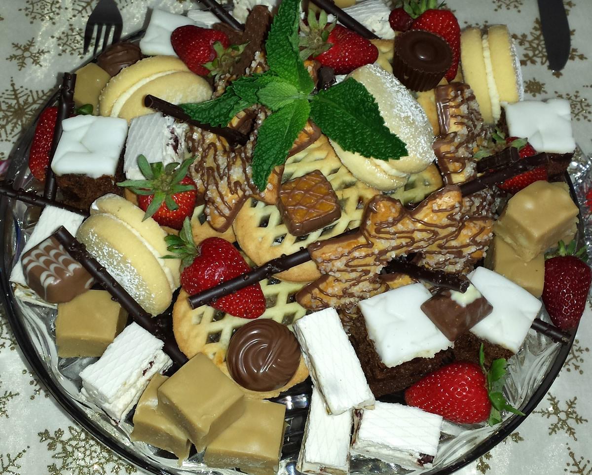 Platter of treats to accompany coffee & tea