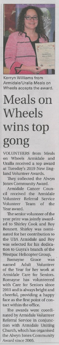 Meals on Wheels wins top gong