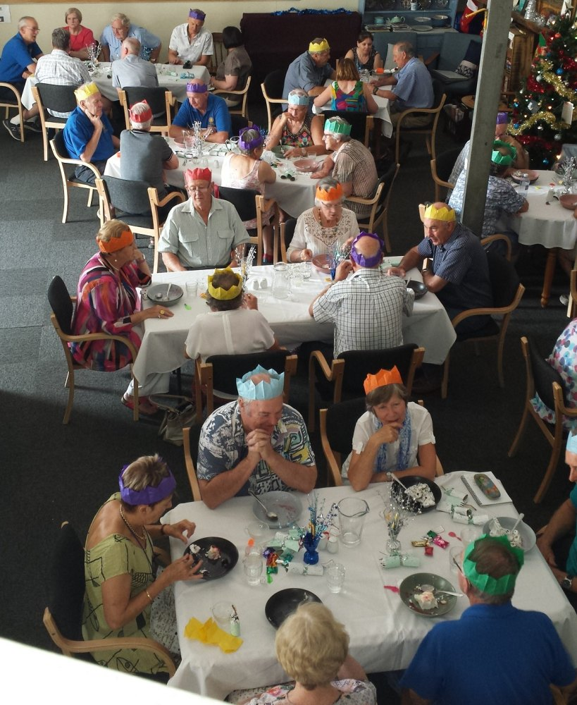 Each year we host an increasing number of Christmas parties for various groups – often associated with our volunteers.